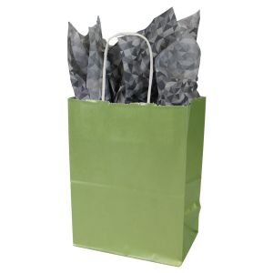 Sage, Medium Ice Collection Paper Shoppers