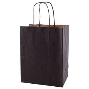 """Noir, Medium Recycled Paper Shopping Bags, 8"""" x 4-3/4"""" x 10-1/2"""" (Cub)"""