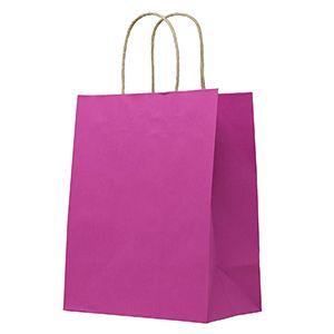 "Azalea, Medium Recycled Paper Shopping Bags, 8"" x 4-3/4"" x 10-1/2"" (Cub)"