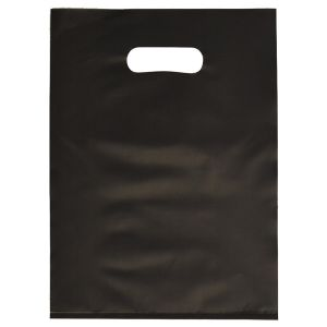 """Black, Frosted Merchandise Bags, 9"""" x 12"""""""