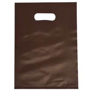 """Espresso, Frosted Merchandise Bags, 9"""" x 12"""""""