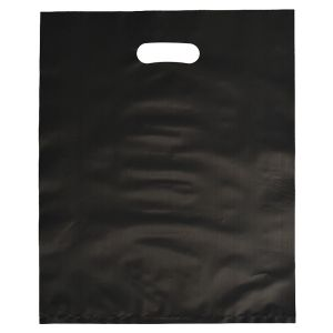 """Black, Frosted Merchandise Bags, 12"""" x 15"""""""