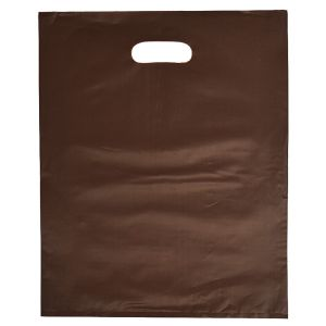 """Espresso, Frosted Merchandise Bags, 12"""" x 15"""""""