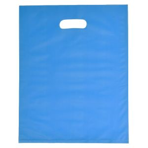 """Ocean Blue, Frosted Merchandise Bags, 12"""" x 15"""""""