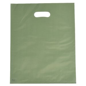 """Sage, Frosted Merchandise Bags, 12"""" x 15"""""""