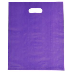 """Grape, Frosted Merchandise Bags, 12"""" x 15"""""""