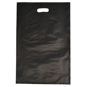 "Black, Frosted Merchandise Bags, 14"" x 3"" x 21"""