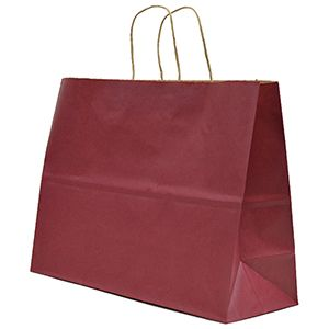 """Cabernet, Large Recycled Paper Shopping Bags, 16"""" x 6"""" x 13"""" (Vogue)"""