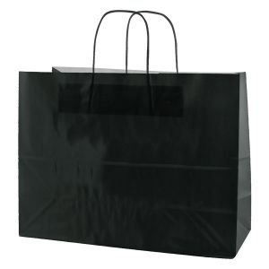 Black, Large Gloss Paper Shoppers