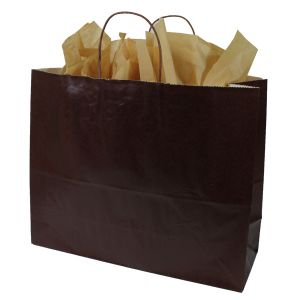 Bronze Coffee, Large Ice Collection Paper Shoppers