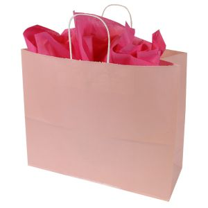 Light Pink, Large Ice Collection Paper Shoppers