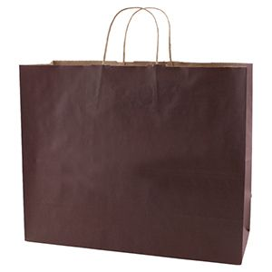"""Espresso, Large Recycled Paper Shopping Bags, 16"""" x 6"""" x 13"""" (Vogue)"""