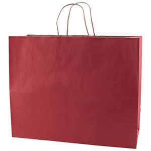 """Scarlet, Large Recycled Paper Shopping Bags, 16"""" x 6"""" x 13"""" (Vogue)"""
