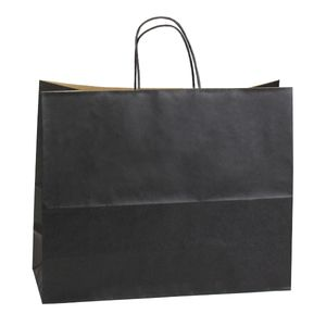 """Noir, Large Recycled Paper Shopping Bags, 16"""" x 6"""" x 13"""" (Vogue)"""