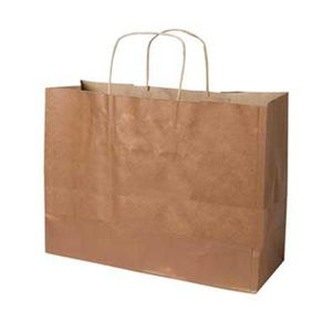 "Copper, Large Recycled Paper Shopping Bags, 16"" x 6"" x 13"" (Vogue)"