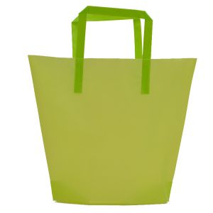 Lime, Medium Frosted Trapezoid Shaped Bags