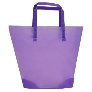 Purple , Medium Frosted Trapezoid Shaped Bags