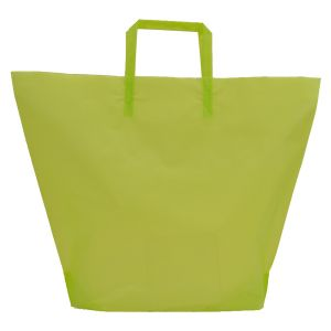 Lime, Large Frosted Trapezoid Shaped Bags