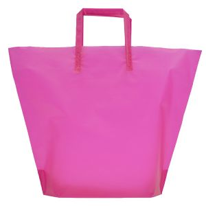 Hot Pink, Large Frosted Trapezoid Shaped Bags
