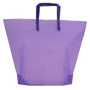 Purple , Large Frosted Trapezoid Shaped Bags