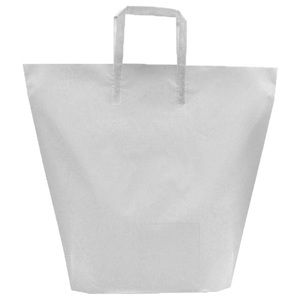 Clear, Large Frosted Trapezoid Shaped Bags