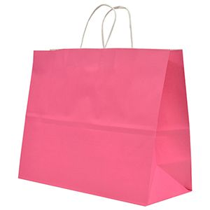 """Cerise, Large Recycled Paper Shopping Bags, 16"""" x 6"""" x 13"""" (Vogue)"""