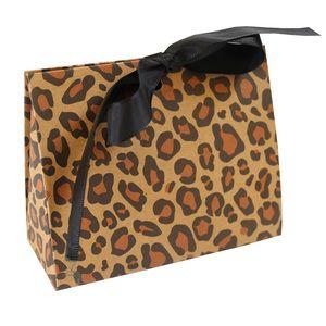 "Leopard Purse Totes, 4.5"" x 2"" x 3.75"""