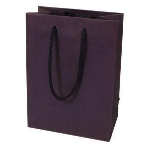 "Dark Purple, Tinted Paper EuroTotes, 6.25"" x 3.5"" x 8.5"""