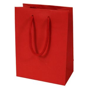 """Red, Tinted Paper EuroTotes, 6.25"""" x 3.5"""" x 8.5"""""""