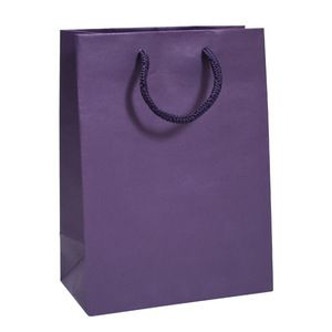 "Dark Purple, Tinted Paper EuroTotes, 8"" x 4"" x 10"""