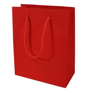 """Red, Tinted Paper EuroTotes, 8"""" x 4"""" x 10"""""""