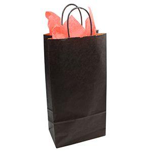 Silver, Double Bottle Wine Shopping Bags