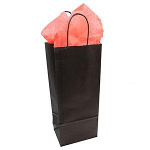 Silver, Single Bottle Wine Shopping Bags