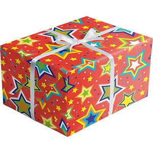 Celebration Gift Wrap, Starry Red