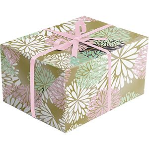 Floral Gift Wrap, Delicate Flower