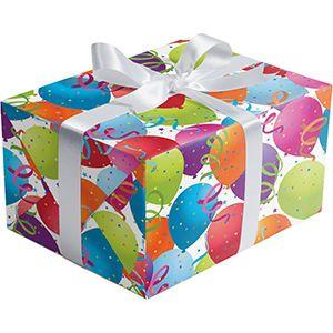 Celebration Gift Wrap, Balloon White