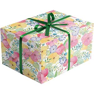 Floral Gift Wrap, Watercolor Petal