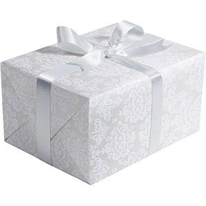 Wedding Gift Wrap, Pearl Damask