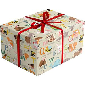 Baby Gift Wrap, Alphabet