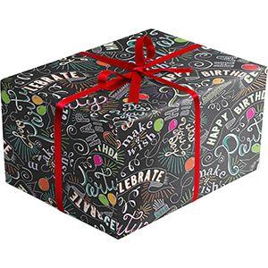 Celebration Gift Wrap, Birthday Chalk