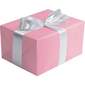 Matte Solid Gift Wrap, Pastel Pink