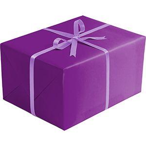 Matte Solid Gift Wrap, Purple