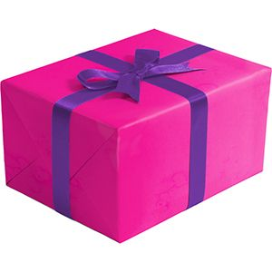 Matte Solid Gift Wrap, Neon Pink