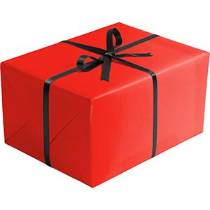 Matte Solid Gift Wrap, Red