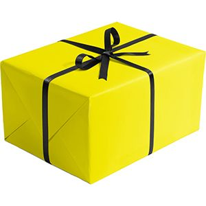 Matte Solid Gift Wrap, Yellow