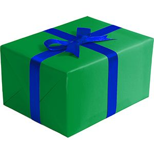 Matte Solid Gift Wrap, Green