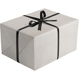 Matte Solid Gift Wrap, Silver
