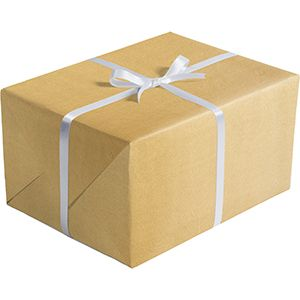 Matte Solid Gift Wrap, Gold