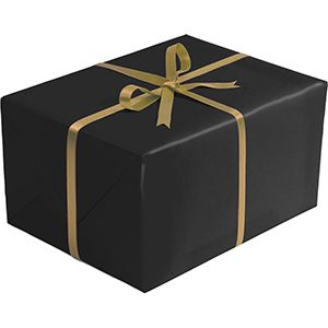 Double Sided Gift Wrap, Black & Gold