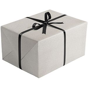 Double Sided Gift Wrap, Silver & Black